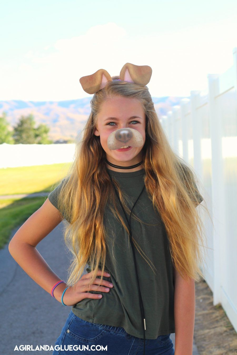 snapchat filter puppy costume with free printable - Free Halloween Costume