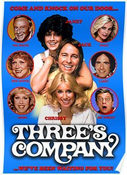 Three S Company Come And Knock On Our Door Poster 80 Tv Shows Three S Company Top Tv Shows