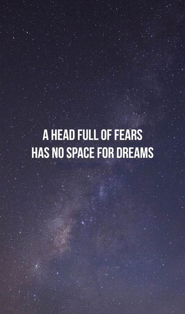 Inspirational Quotes Why No Space For Dreams Phone Frases
