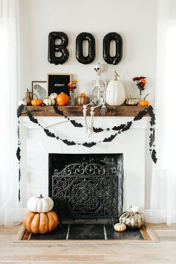 37 Perfect Halloween Home Decoration Ideas 2018 Halloween Decorations Indoor Outdoor Cheap And Easy Hal Halloween Mantel Halloween House Fall Halloween Decor