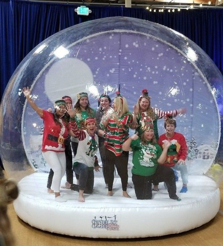Giant Snow Globe Holiday Attraction Step Into The Globe And Have