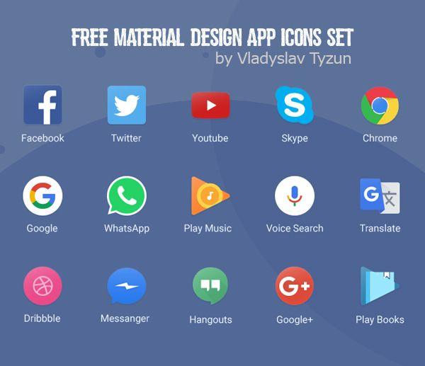 Free Material Design App Icons Set 15