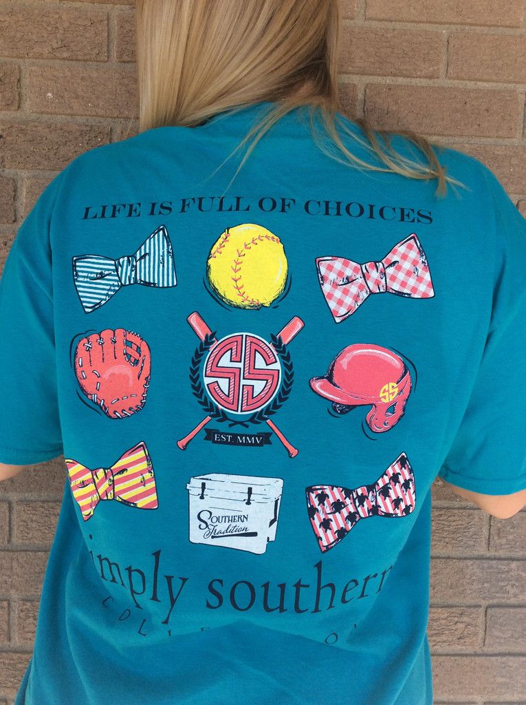 54e90ddd092 Simply Southern Softball Tee More