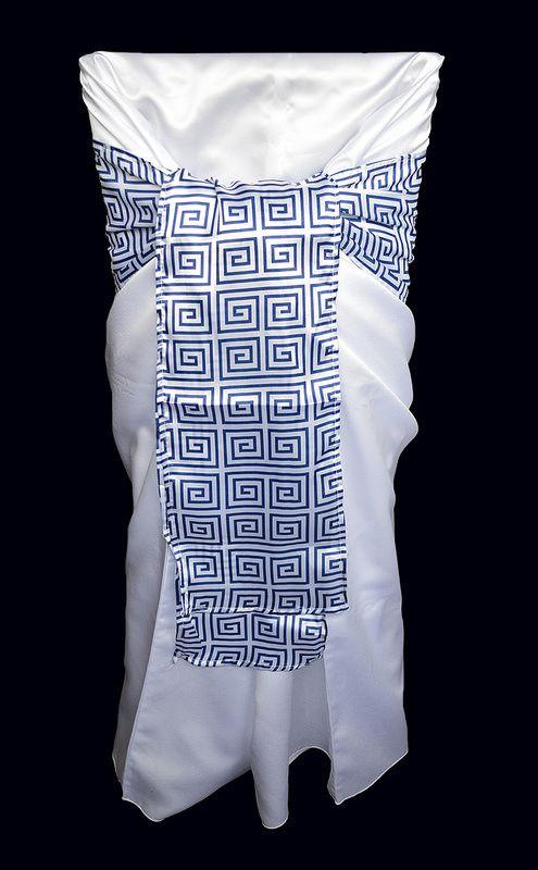 Athena - Sash Tie + White Chair Cover