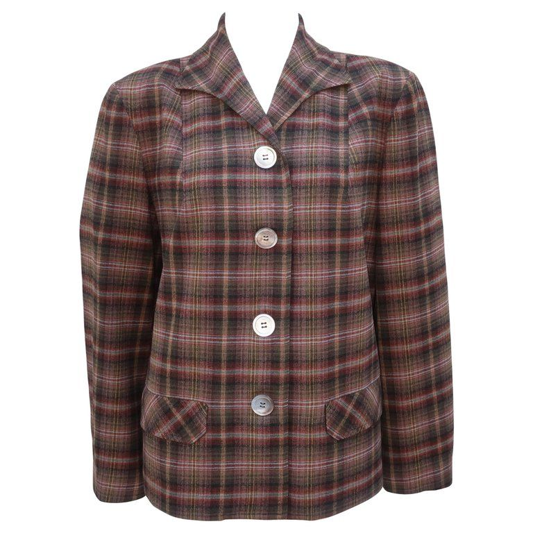 Classic C.1950 Pendleton '49er Plaid Wool Jacket | Plaid