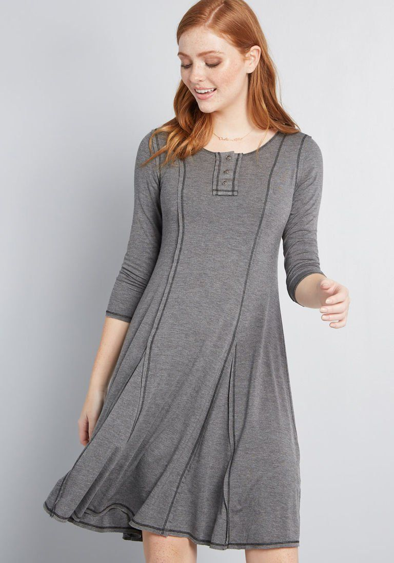 cee81e8c44 At It Again Knit Dress in S - Long A-line Mini by ModCloth ...