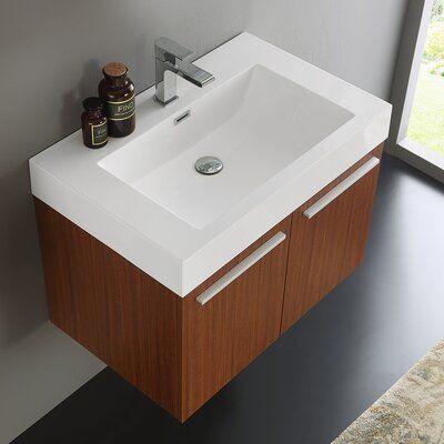 "Fresca Vista 30"" Wall-Mounted Single Bathroom Vanity Set   Wayfair"