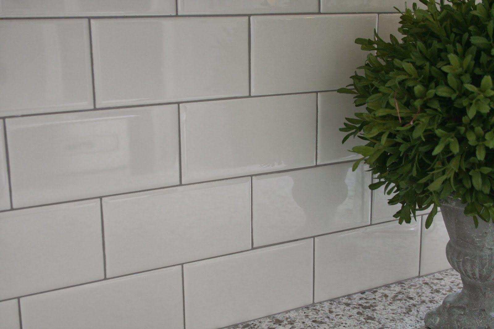 Daltile 3 X 6 Ceramic Tile In White Kitchen Subway