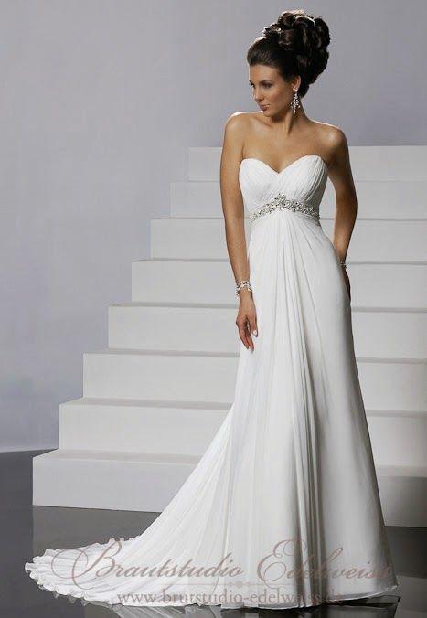 Griechische Göttin Hochzeitskleid aus Chiffon. Leichtes schlichtes ...