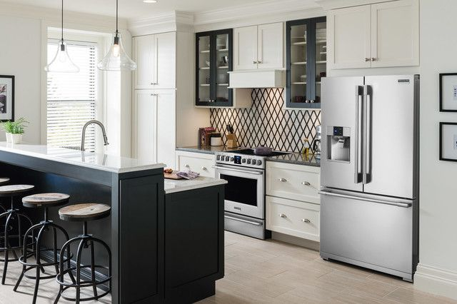 professional kitchen appliances trash can size frigidaire transitional with dishwashers ovens refrigerators