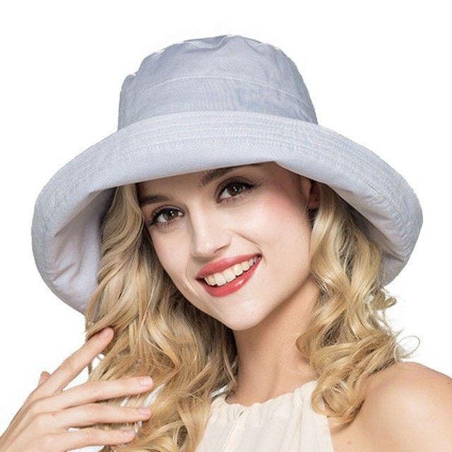 8ee3819b46e5ce Ladies Summer Cotton Linen Fashion Floppy Bucket Beach Hat 7 Colors ...
