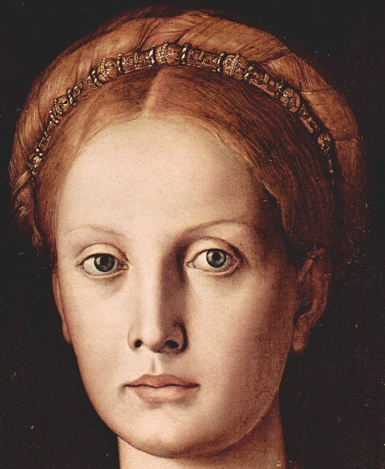 Agnolo Bronzino - Ritratto di Lucrezia Panciatichi, 1545 (Particolari)