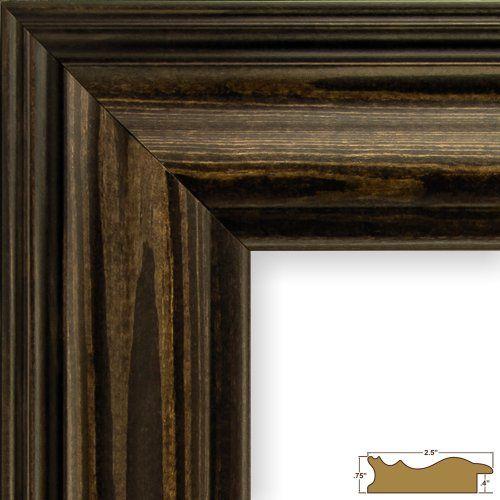 Craig Frames Winston 2 Walnut Veneer Solid Wood Picture Frame 14 by 22-Inch