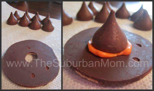 Easy Halloween Witch Hat Cookies!
