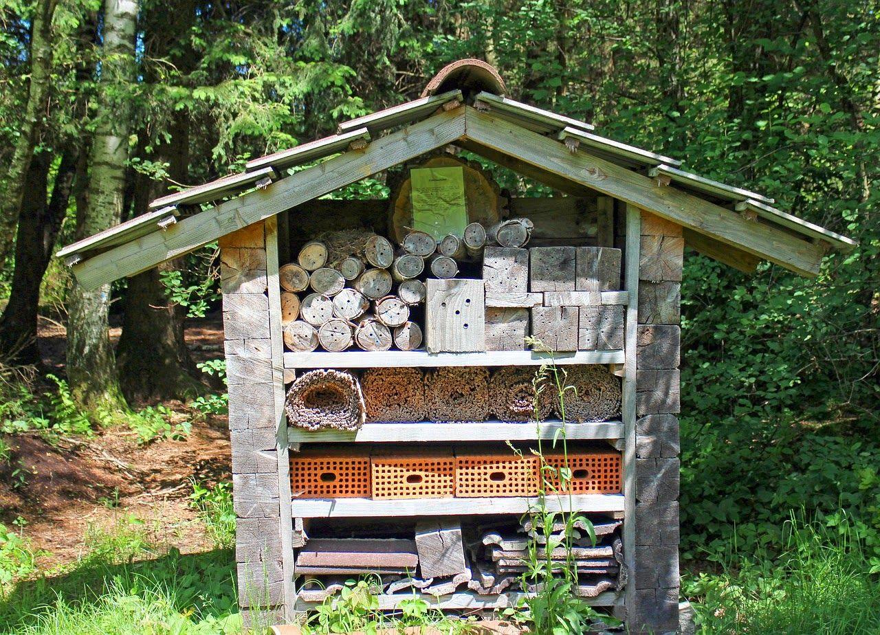 Landhaus Blog Insektenhotel Für Den Garten Selber Bauen Video Anleitung Und Beispielbilder Insektenhotel Insektenhotel Selber Bauen Garten Geräteschuppen