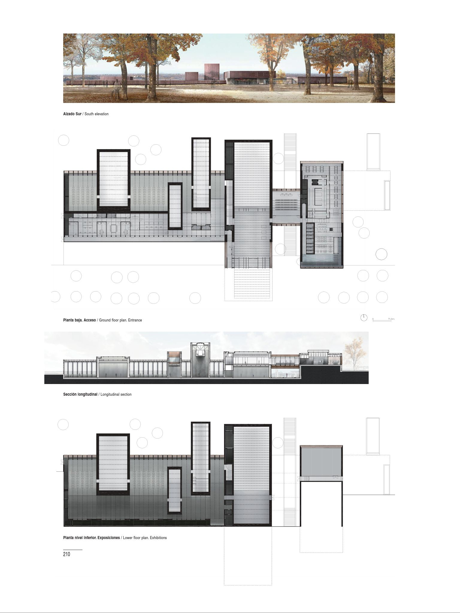 Rcr arquitectes museo soulages rodez francia 2008 for Winery floor plans by architects