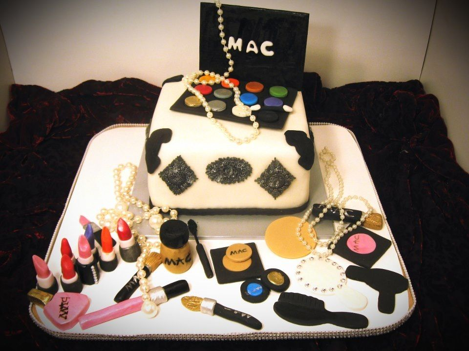 Makeup Kit Cake Design : Mac makeup artist cake all edible Cute Cakes & Cupcakes ...