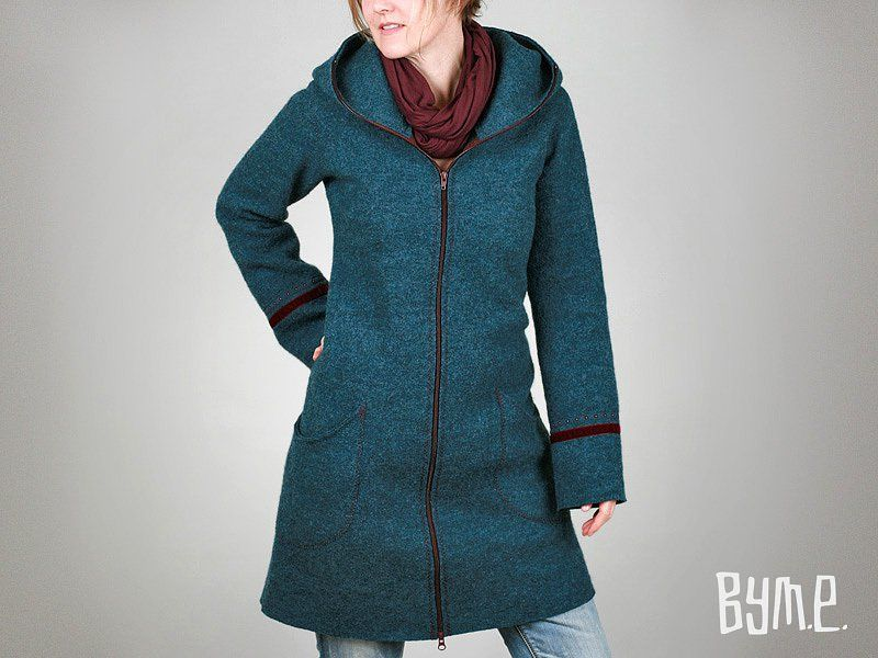 Kapuzen-Mantel aus Walk (in mehreren Farben) | Pinterest | Mantels