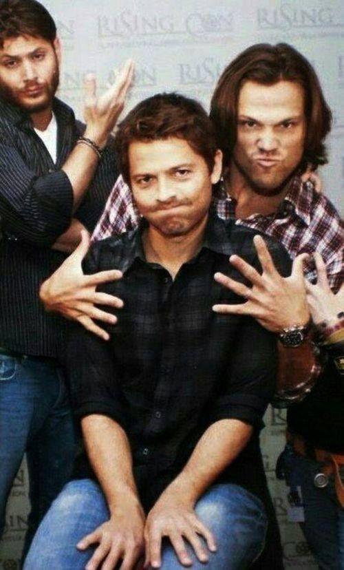 Supernatural Jensen Ackles Jared Padalecki Misha Collins