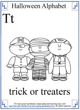 Halloween Alphabet Coloring Page T Free Halloween Coloring Pages Halloween Coloring Pages Halloween Worksheets