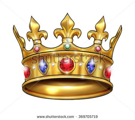 Royal Golden Crown Crown Icon Crown Symbol Golden King Crown With