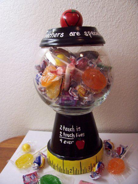 Pin By Candace Beatty On Teacher Appreciation Clay Pot Crafts Candy Jars Teachers Diy