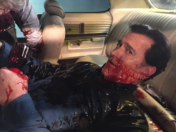 Bruce Campbell on the back seat of The Classic