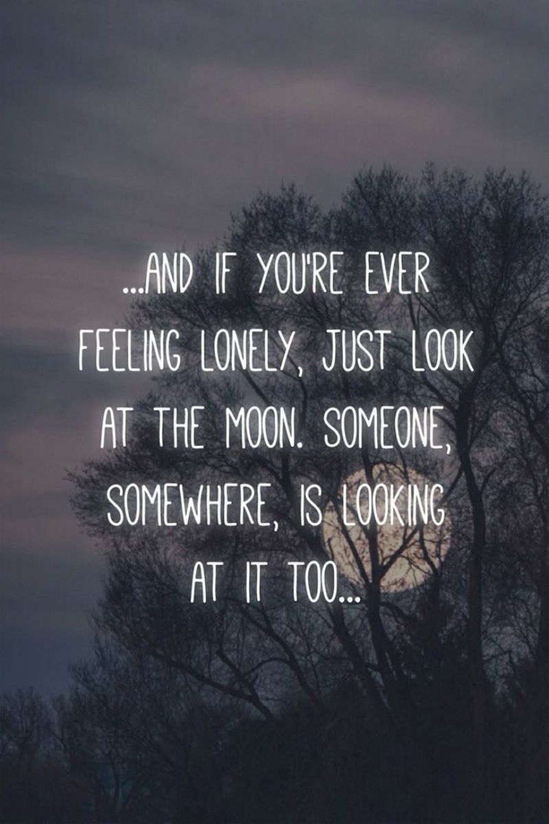 Moon Quotes Tumblr If You Are Lonely  Moonipulations  Moonipulations  Pinterest
