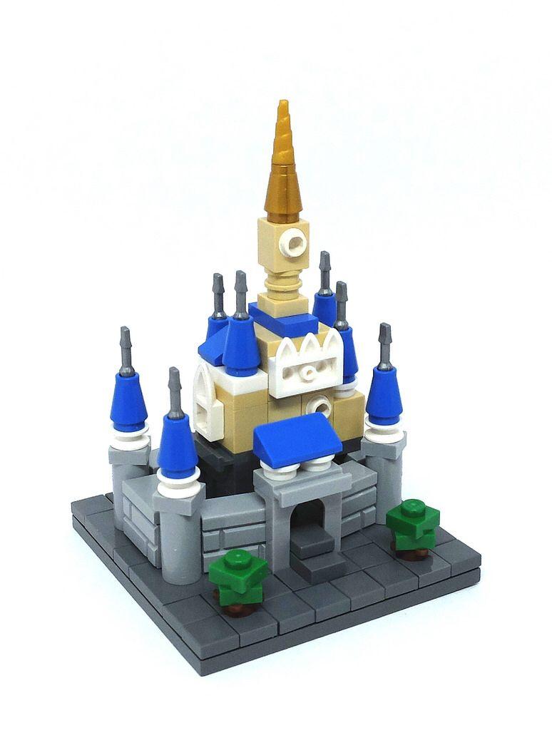 Microscale Cinderella's Castle   Lego_Architecture ...