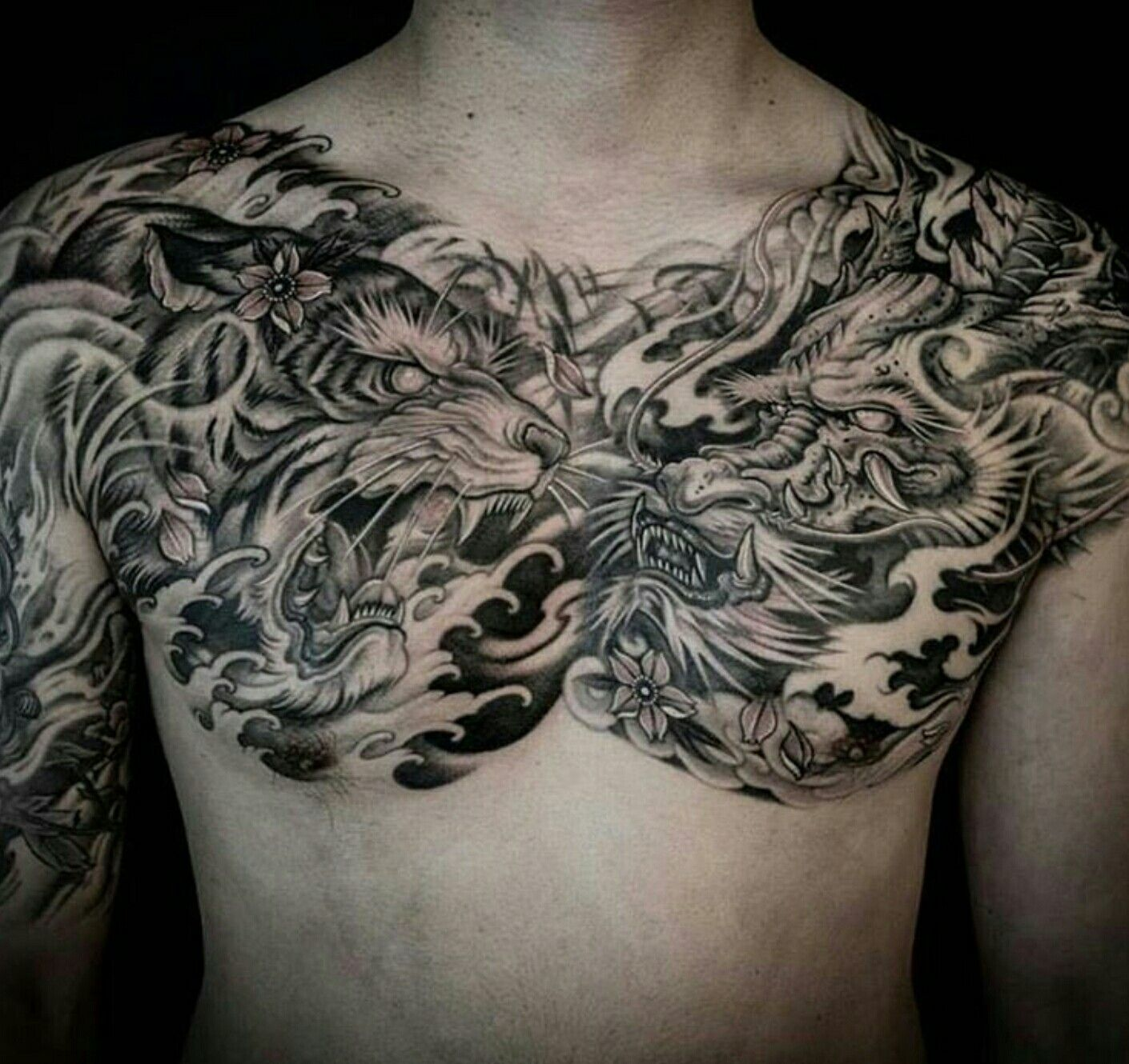 Chinese Chest Tattoo: Chest Tattoo Men By Sean Smith On My Tattoo