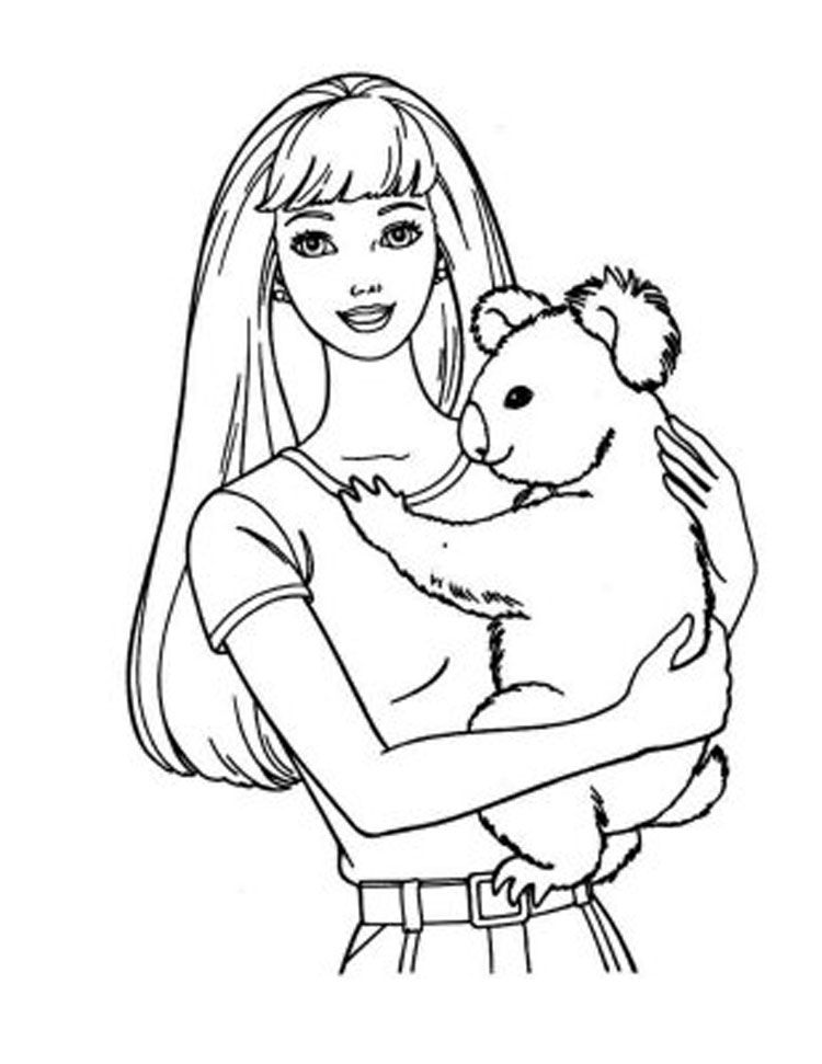 barbie coloring pages doll palace | Coloring Pages For Kids ...