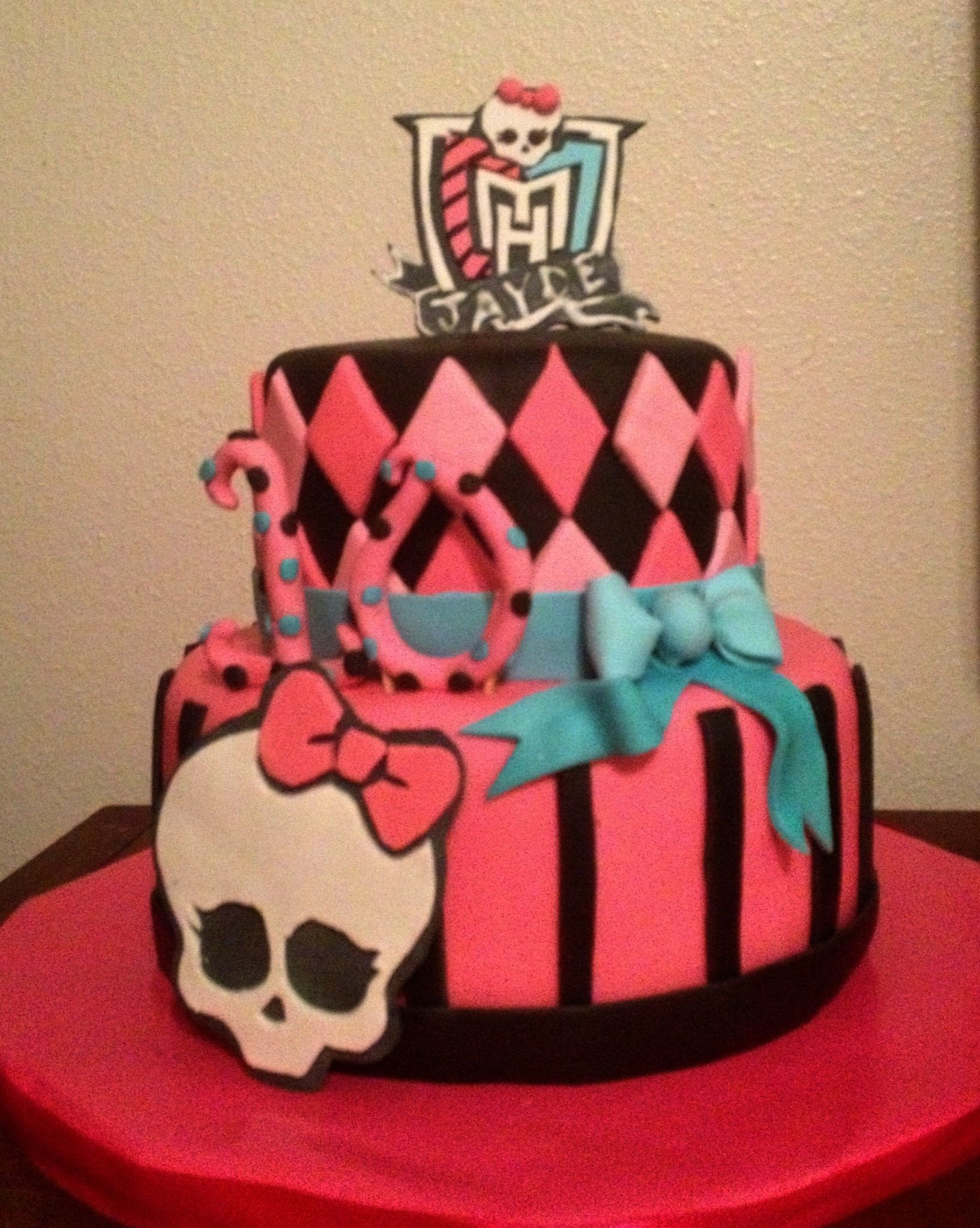 Cake For A Monster High Themed 10 Year Old Birthday Prior To This