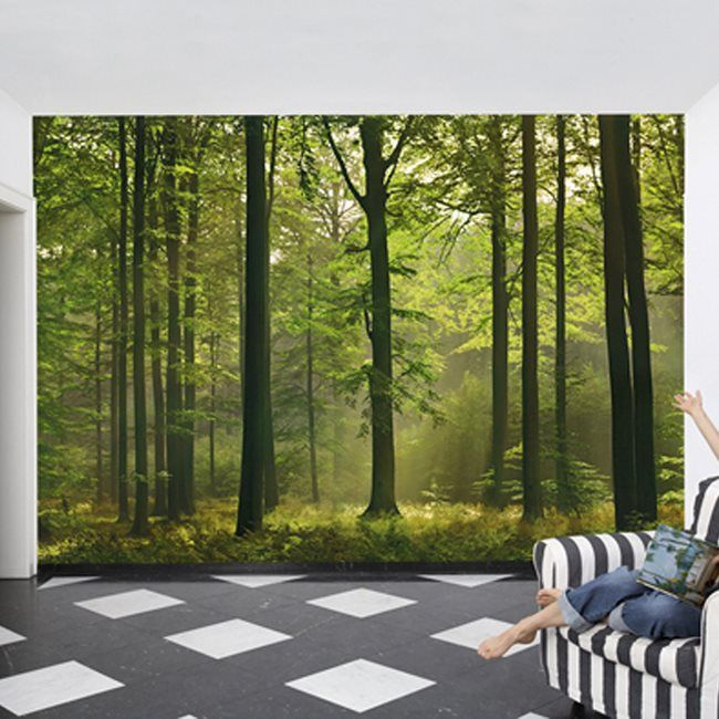 Lowes Wall Murals provincial wallcoverings dm216 autumn forest mural | lowe's canada
