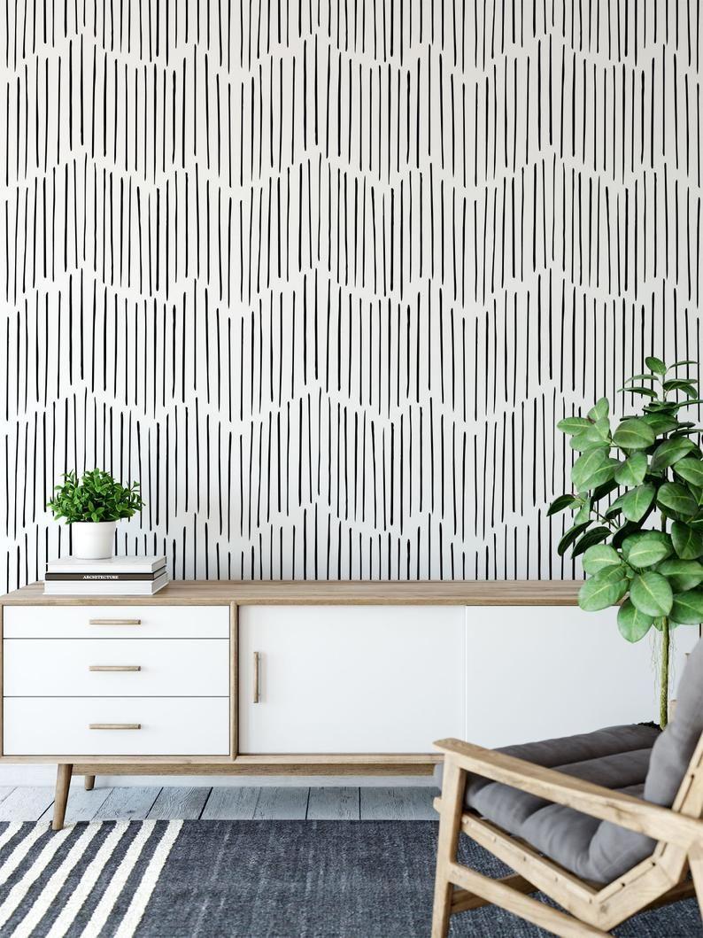 Minimalist Removable Wallpaper Chevron Wallpaper Modern Etsy Chevron Wallpaper Modern Wallpaper Removable Wallpaper