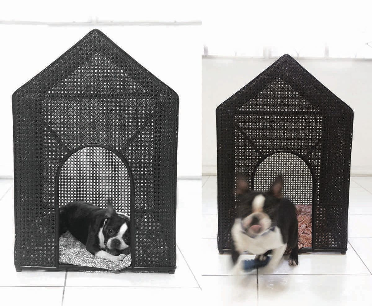 Rattan Dog Houses Designed By Patricia Eustaquio For E Murio Dog Milk Dog Milk Dog Houses Indoor Dog House