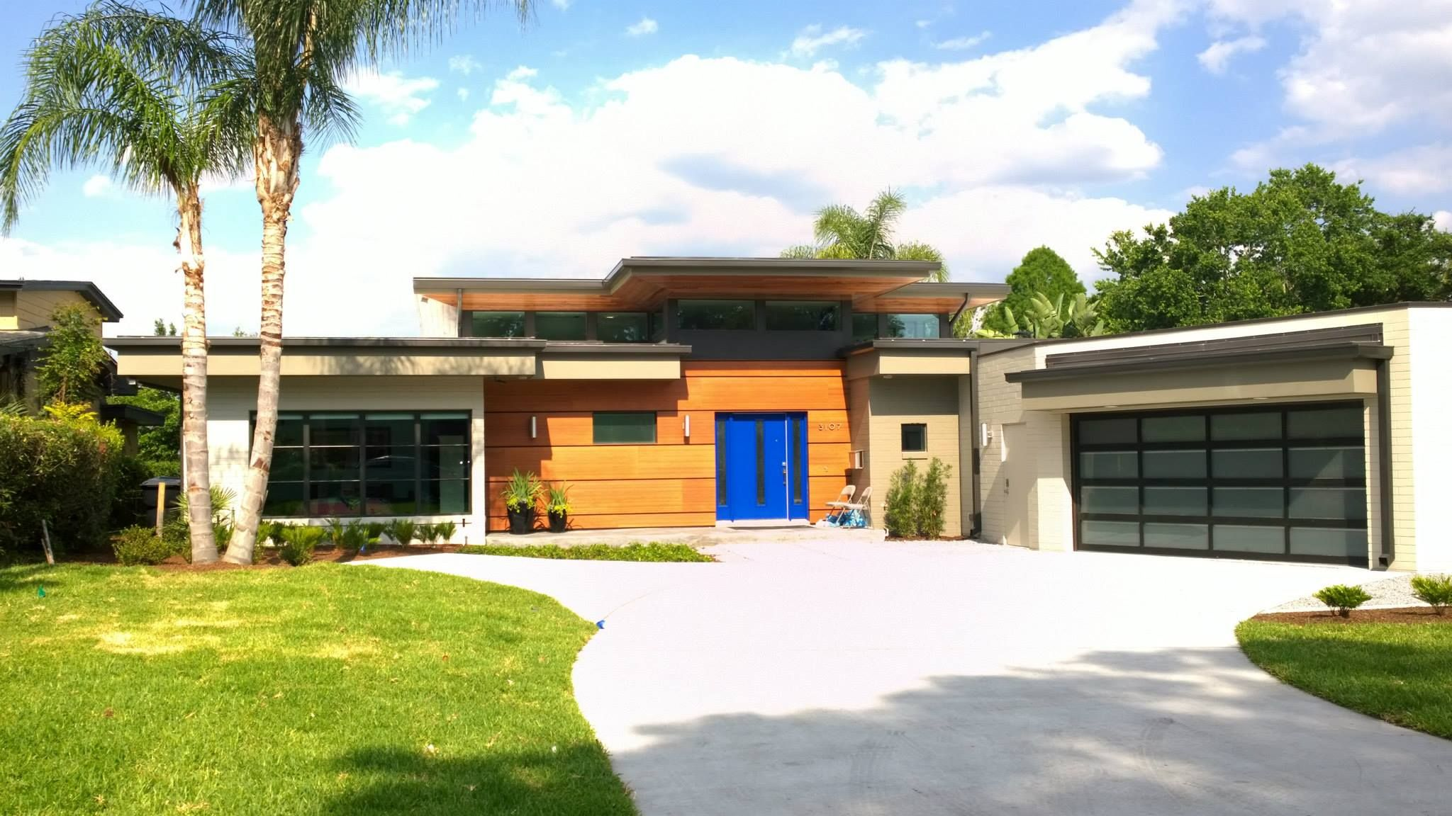 Street View Of A Mid Century Modern Renovation In Orlando, Florida.