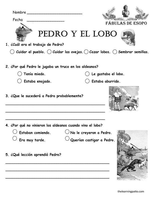 Actividades Para Trabajar La Fabula Pedro Y El Lobo Búsqueda De Google Modalidades De Lectura Lecturas Para Comprension Lectora Lectura De Comprensión