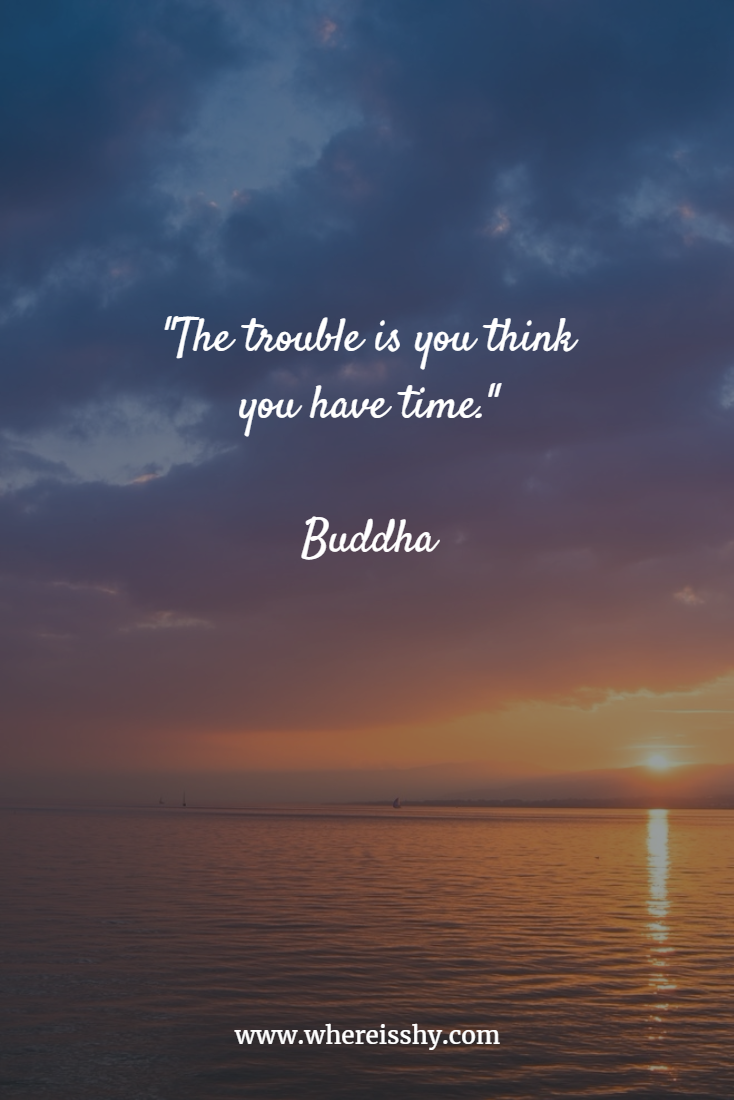 The Trouble Is You Think You Have Time Buddha Quote Travel