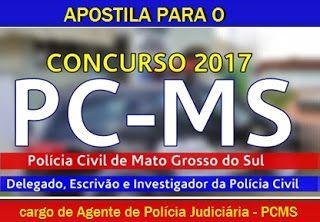 Apostila Concurso Pcms Policia Civil Ms 2017 Para Agente De
