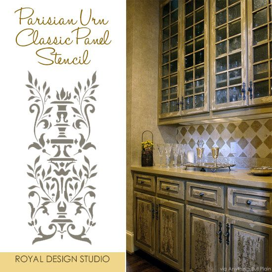 Stencil Project Ideas For Stenciling Kitchen Cabinets And Doors Fair Kitchen Stencil Designs Design Decoration