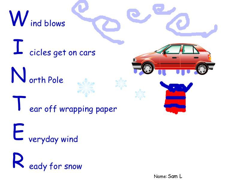 winter words | to figure out how to incorporate their winter words ...