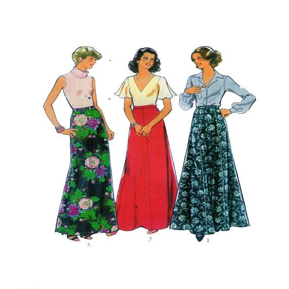 Style 2162, Women Skirt, Sewing Pattern, Fit and Flare, Maxi Skirt ...