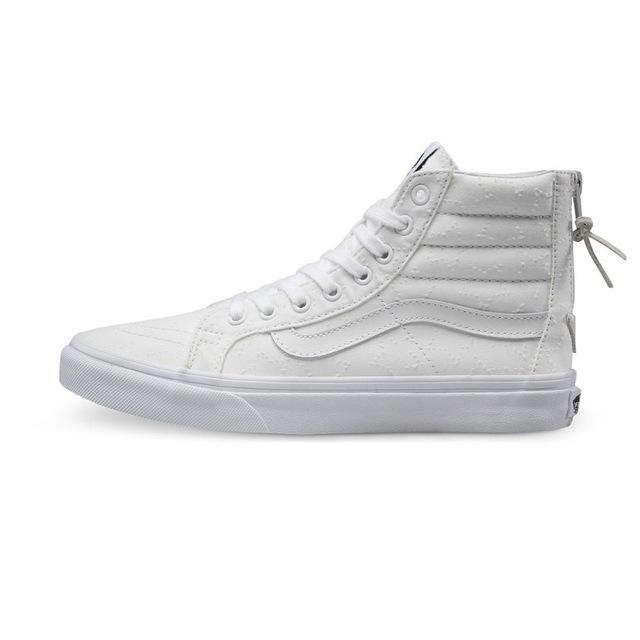 a517c7fb113bda Original Vans New Arrival White Color High-Top Women s Skateboarding Shoes  Sport Shoes Canvas Shoes Sneakers