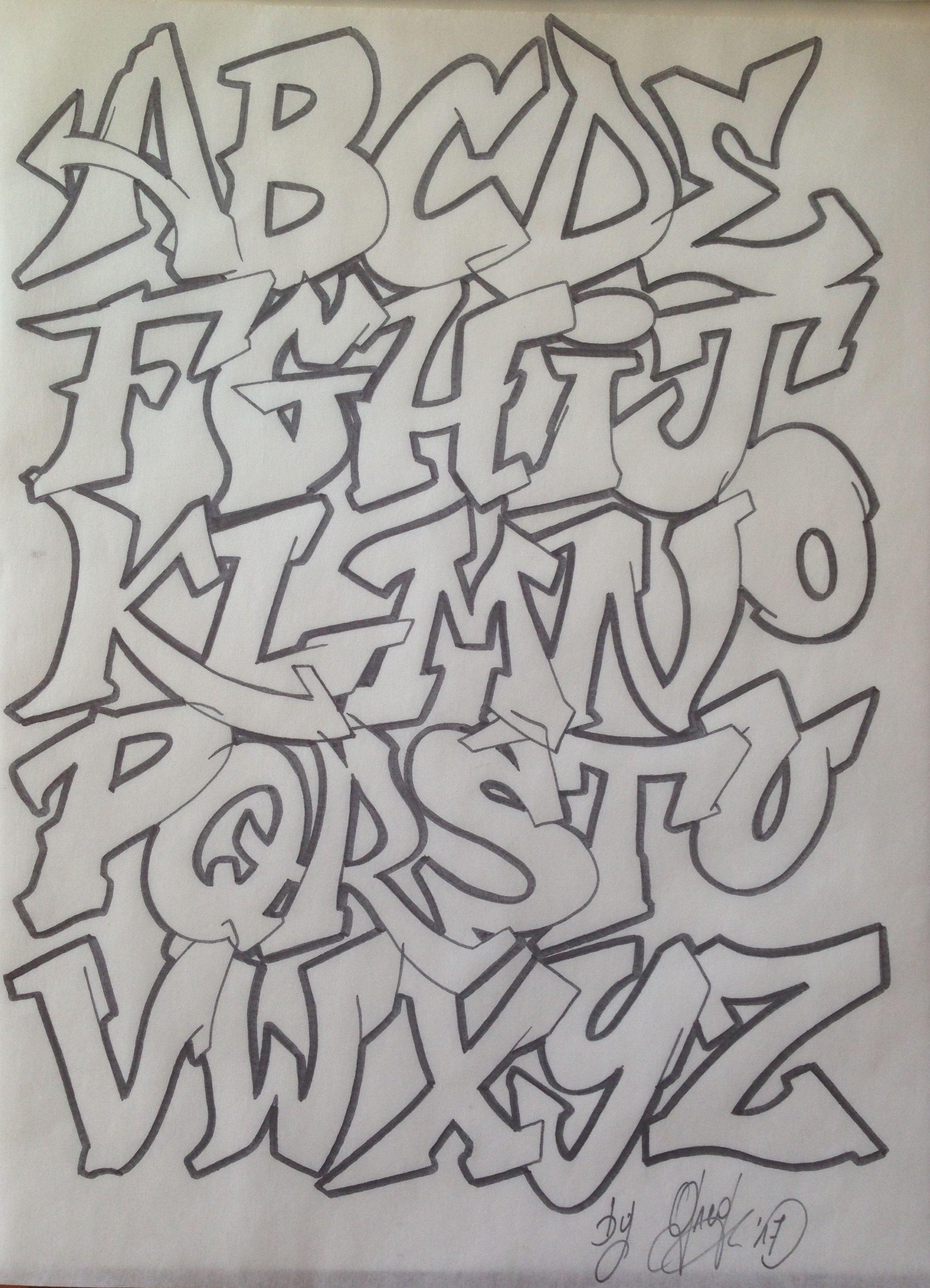 Graff Graffiti Tag Street Art Lettering Alphabet Tipos