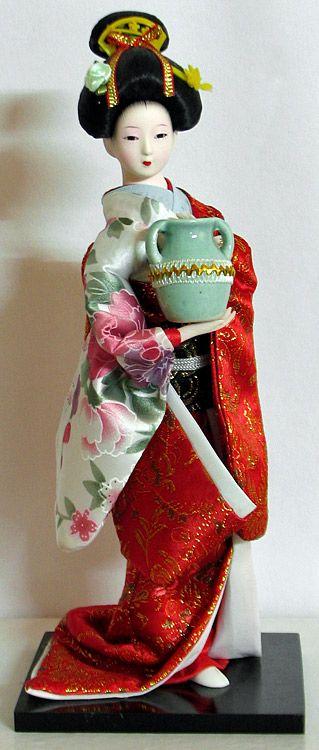 Japanese Lady (doll) Holding Jug