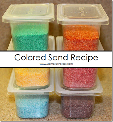 Not too long ago, we needed some colored sand for an art project ...