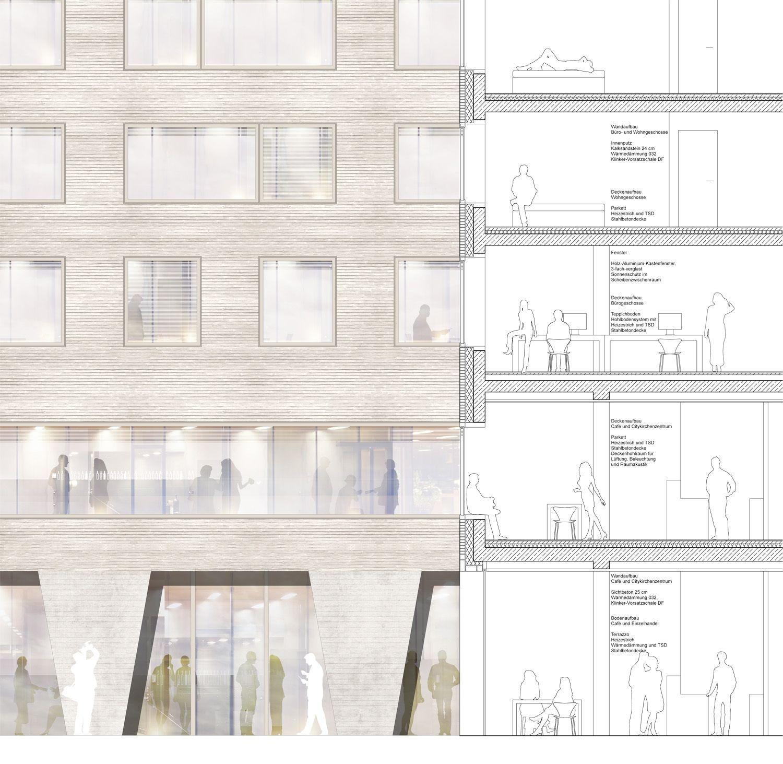 1 Preis Detail Ansicht Schnitt C Dna Trint Kreuder Architekturdiagramme 1 Preis Det Layout Architecture Architecture Design Architecture Presentation