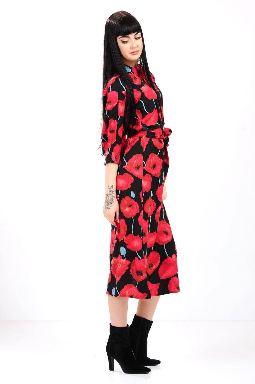 Kırmızı Örgü Bayan Elbisesi Yapılışı