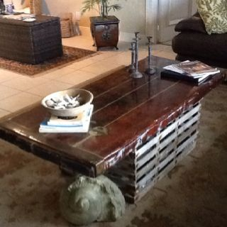 My lobster trap/ships door coffee table | Fishy ideas | Pinterest | Door coffee tables, Lobster ...