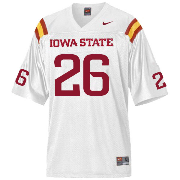 Men 26 Micheal Tweten Iowa State Cyclones College Football Jerseys Sale White In 2020 Iowa State Cyclones Iowa State Iowa